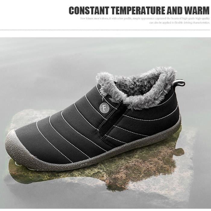 de d'hiver porter neige Bottes en Bottes Conception populaire et coton Automne Bottes Short à Homme Eq7Hv0