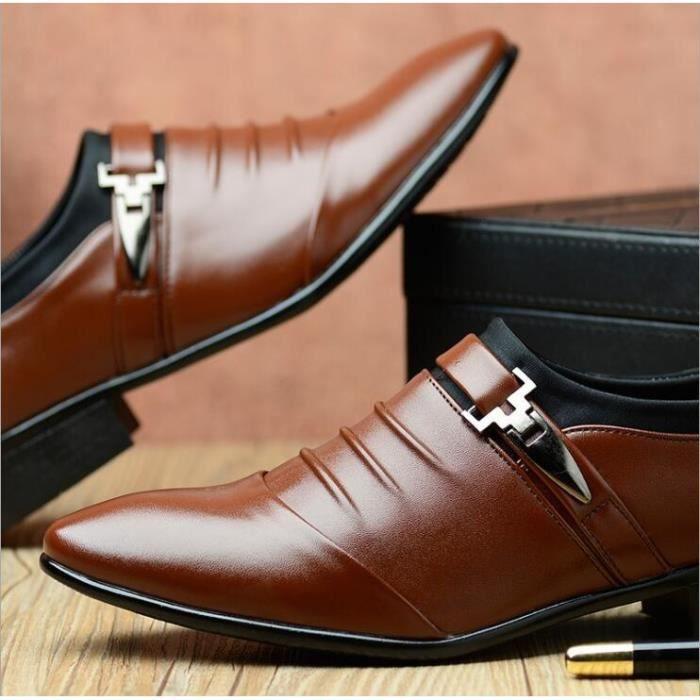 British Mode Hommes brillant Derbies affaires de mariage en cuir verni Pointu Chaussures Toe Plus Size 38-48, Les Hommes de