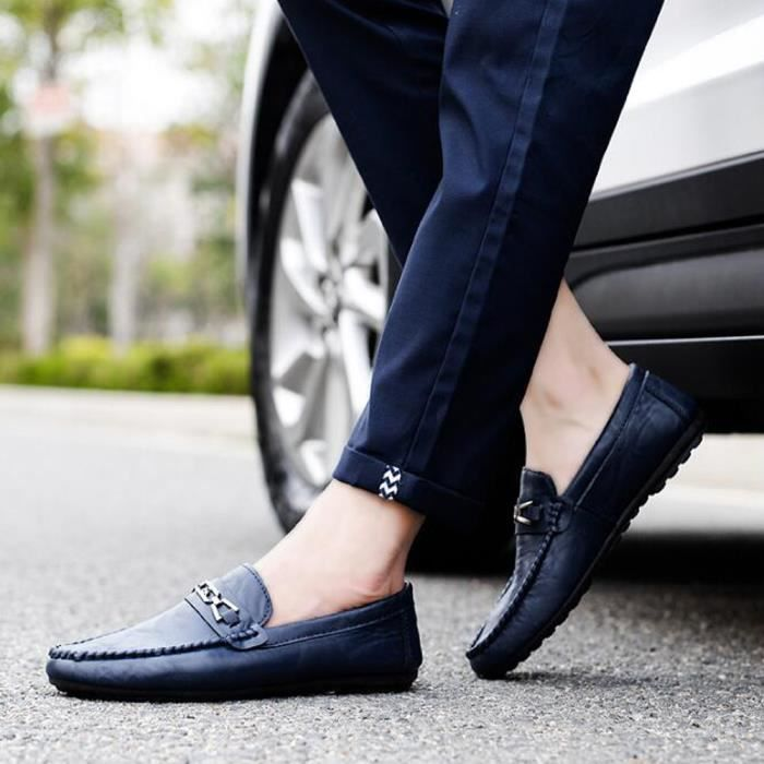 Bout Pointu Boat cuir Mocassin Jointif on Homme Slip Mode Chaussure PU Bateaux Oxford BRxFwCzqC