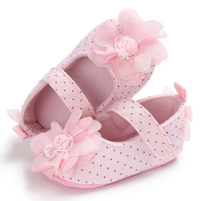 Lzp80320144pk Semelle Rosemho Chaussures n Bb Enfants Fille Nourrisson Rose Fleur Enfant Douce Nouveau wXP4fTqXx