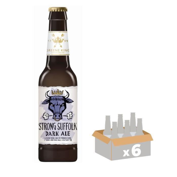 GREENE KING CRAFT STRONG SUFFOLK Bière Brune 0,33 L x 6