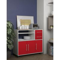 PEPS Buffet de cuisine L 89 cm - Rouge et blanc