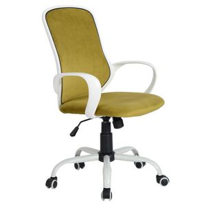 CHAISE DE BUREAU Chaise de Bureau - Accoudoir - Tissu - Hauteur Rég