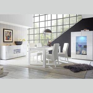 SALLE À MANGER  Salle à manger design blanc laqué SANDREA 180 cm A