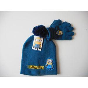 BONNET - CAGOULE Ensemble MINIONS bonnet gants enfant 2-5 ans