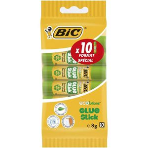 COLLE - PATE ADHESIVE BIC ECOlutions Bâtons de Colle Blanche - 8 g, Blis