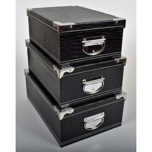 boite de rangement carton deco achat vente boite de rangement carton deco pas cher cdiscount. Black Bedroom Furniture Sets. Home Design Ideas