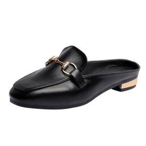 MOCASSIN Femmes Dames Place solide Toe talon plat Chaussure