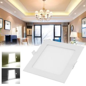 PLAFONNIER Spot LED carré 145mm extra plate 9W downlight LED