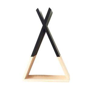 ETAGÈRE MURALE Black39*23*10cm Bois X Forme Mur étag&egrav