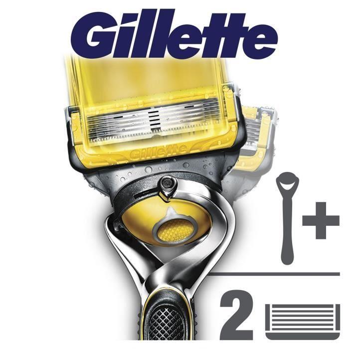 GILLETTE Rasoir Fusion Proshield + 1 recharge de lames