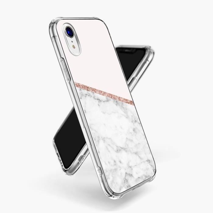 coque antichoc iphone xr marbre