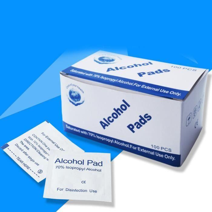 Jetable Pcs Plaies Lingettes Désinfection 100 Coton Alcool Médical n0Ov8wmN