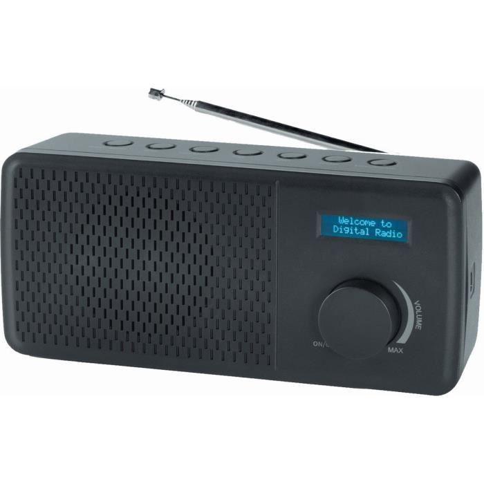 Denver 12216630dab Et Radio Fm Dab 41avec Écran Lcd Noir