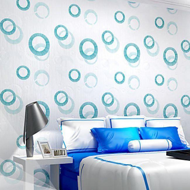 Papier Peint Clasique De Décoration Orné De Cercles 3D Idéal Pour  Revêtement Mural De Chambre Du0027enfants, Hall, Bureau, Chambre