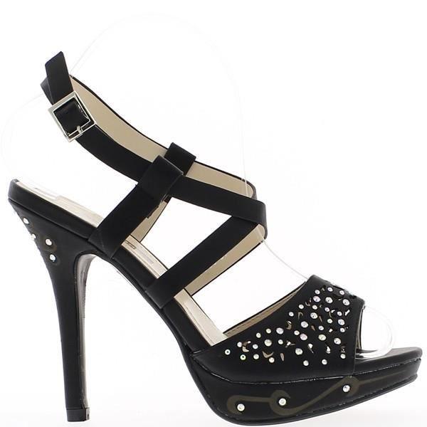 Sandales noires à talons de 12,5...