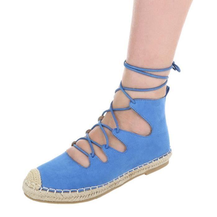 Chaussures femme escarpin Espadrilles avec lacer bleu 41 ieyOVDy