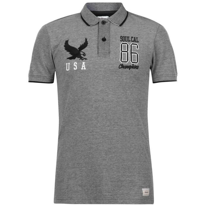 Homme Soulcal Manche T Birdseye Deluxe Polo Shirt Classique EEF1q4wPO fb5372b8464