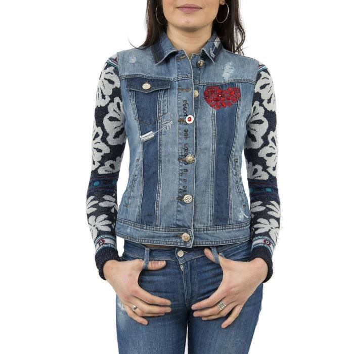 prix en vente en ligne magasiner pour authentique DESIGUAL Veste femme Gaelle 3GNC43 Taille-M