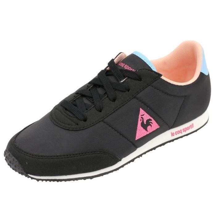 fe364a7cfc0 RACERONE GIRL JR NR - Chaussures Fille Le Coq Sportif Noir Noir ...