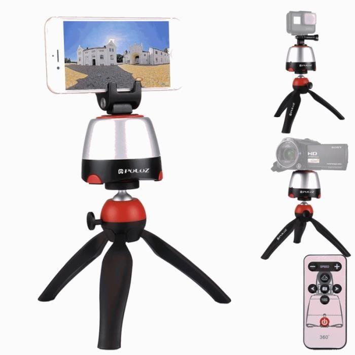 Trépied pour Smartphones GoPro Appareils photo Reflex Rouge Électronique  360   Degrés Rotation Tête Panoramique + + Clamp + 82ed8956b079