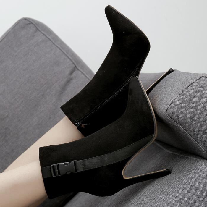 Zareste®les Chaussures Talon Sandales Lacets Haut Bout À Escarpins Noir Bottes Xym80708901bk38 Escarpin Femmes Printemps Pointu rnxCq1B8rw