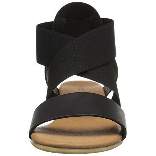 33a1a28cb8 Femmes André Assous Malta Sandales Compensées Noir Noir - Achat / Vente  sandale - nu-pieds - Cdiscount