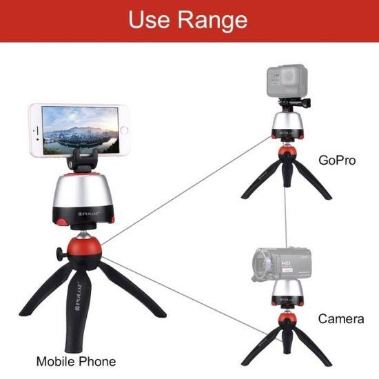 Trépied pour Smartphones GoPro Appareils photo Reflex Rouge Électronique  360   Degrés Rotation Tête Panoramique + + Clamp + - Achat   Vente trépied  - ... 4c0ca6b7eaef