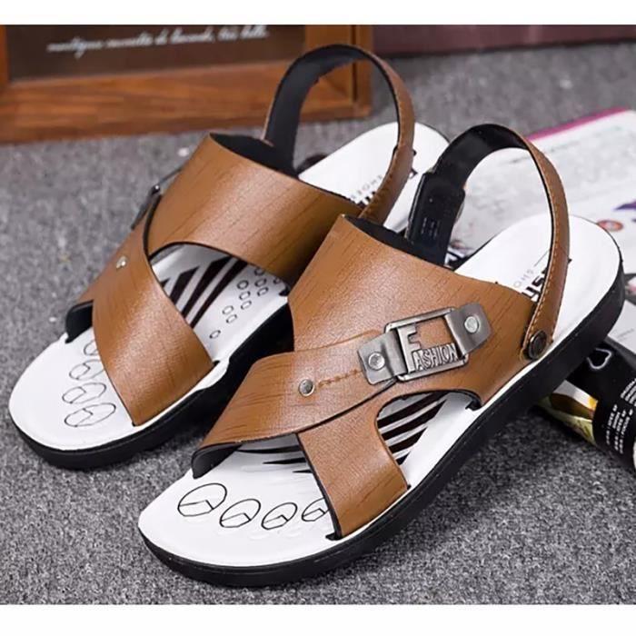 British style extérieur Brown oisif Chaussures Sandal Chaussures pour hommes qv0g2ffO