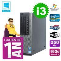 UNITÉ CENTRALE + ÉCRAN PC Dell 790 DT Intel I3-2120 16Go Disque 250Go Gra