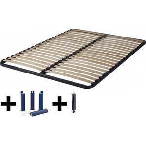 PIED DE LIT Altolattes - Pack Sommier 20 Lattes 120x190cm + Pi