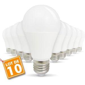 AMPOULE - LED Lot de 10 Ampoules LED E27 9W eq 60W 806lm (Blanc