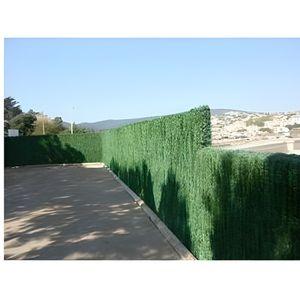 HAIE DE JARDIN Haie végétale artificielle 110 brins 6 m x 1,50 m