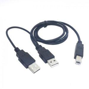 CÂBLE INFORMATIQUE Chenyang Dual USB 2.0 mâle à standard B mâle Y câb