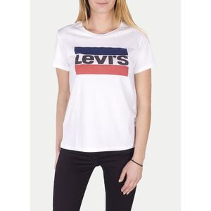 T-SHIRT tee shirt levis 17369 the perfect tee blanc