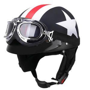 CASQUE MOTO SCOOTER Captain America Casque Moto de Marque luxe unisexe