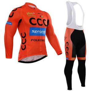 MAILLOT DE CYCLISME CCC  Maillot de Cyclisme Manches Longue + Pantalon
