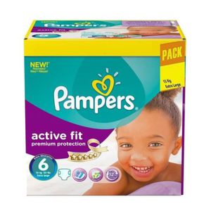 COUCHE 120 Couches Pampers Active Fit - Premiun Protectio