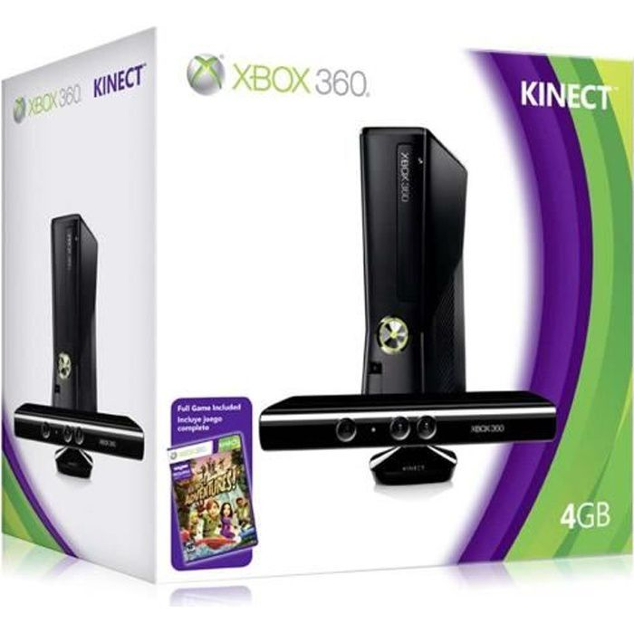 CONSOLE XBOX 360 XBOX 360 4 Go + KINECT + KINECT ADVENTURES