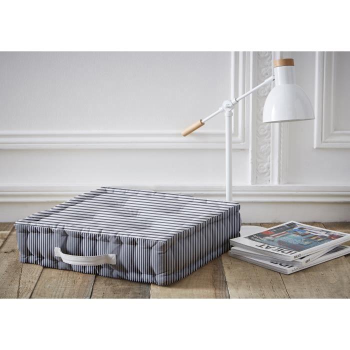TODAY Coussin de sol LINY 45x45 cm bleu et blanc