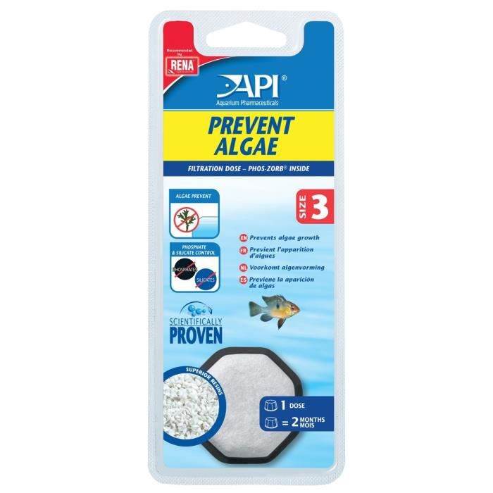 Api Dose Prevent Algae T3 (x1) Pour Prévention Des Algues - Aquarium