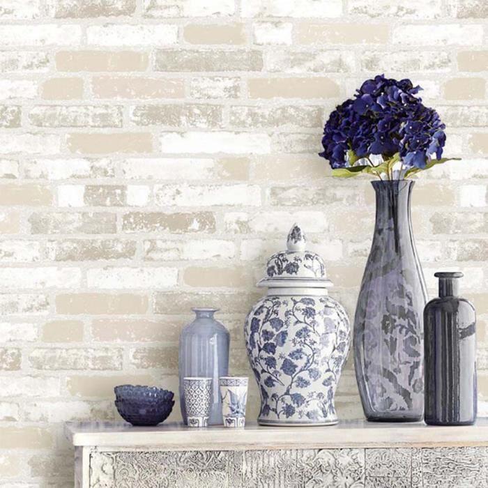r tro 3d pvc papier peint pour cuisine magasin restaurant. Black Bedroom Furniture Sets. Home Design Ideas