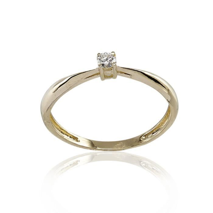 Solitaire CLEOR Or 375/1000 Diamants