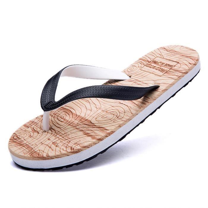 Homms Tong Marque De Luxe Qualité Supérieure Nouvelle arrivee ete Plage Classique Homme Tong Taille Plus Chaussures Loafer C4DyjLDF2P