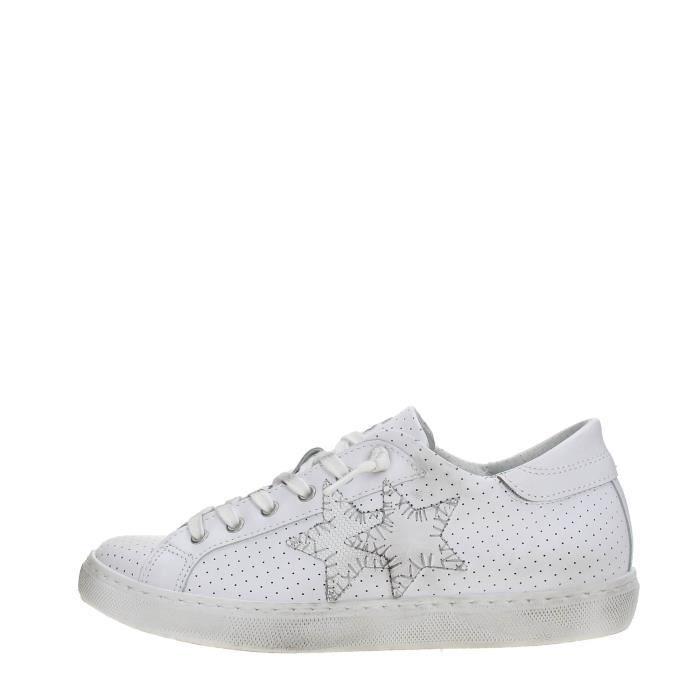 2 Star Sneakers Femme White, 36