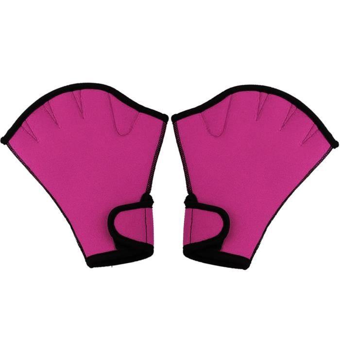 1 paire Gants de natation aquatique fitness résistance à l'eau Aqua fit paddle Entraînement des gants sans doigts