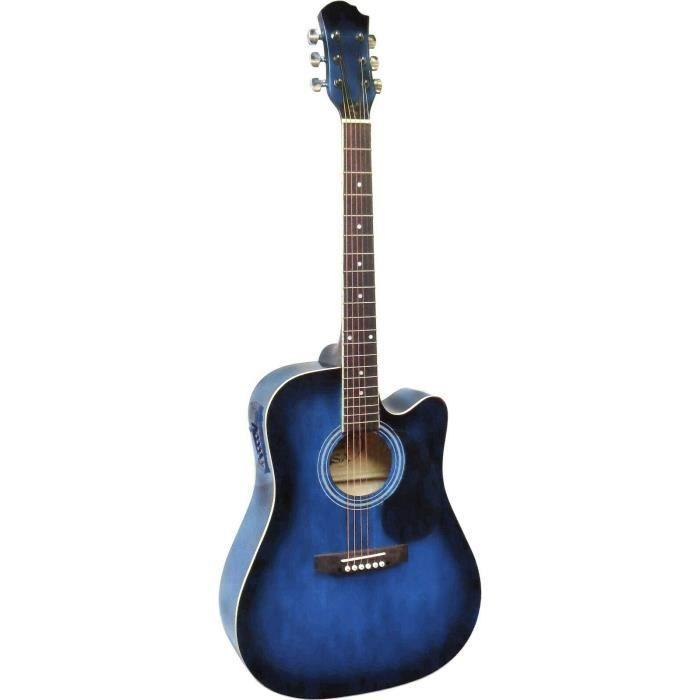 Guitare Électro-Acoustique Bleue nuit pas cher - Achat ...