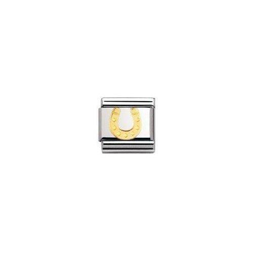 Nomination 030115 - Maillon Pour Bracelet Composable Mixte - Acier Inoxydable Et Or Jaune 18 Cts W9D5E