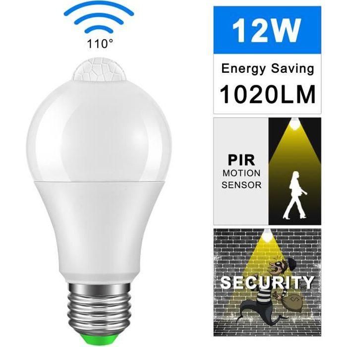Chaud Pour L'entrée À 12w Blanc Led E27 Capteur D'énergie Pir Économie 3000k Ampoule Lampe F1lc3TKJ
