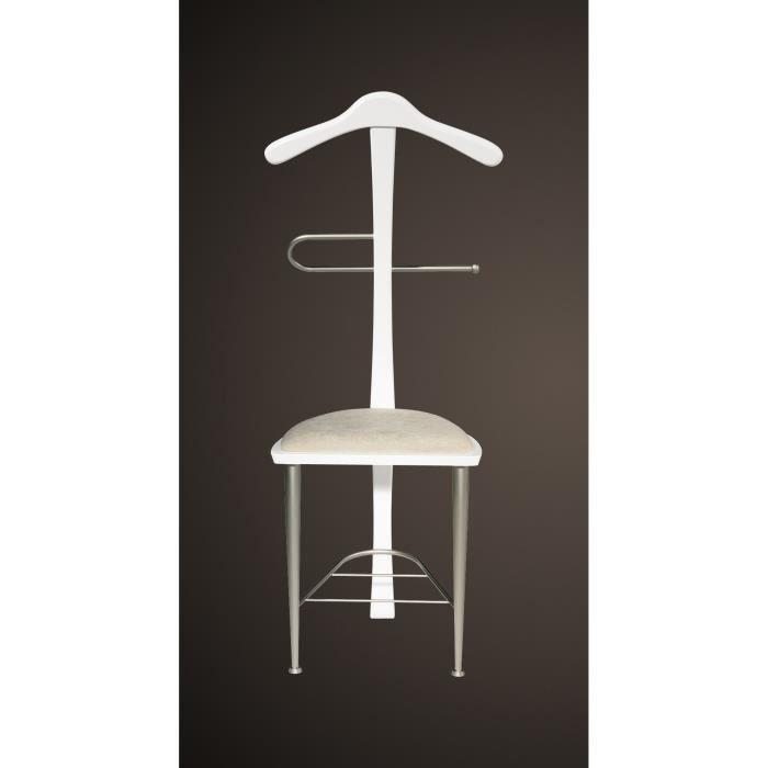 Valet de nuit blanc sous forme de chaise en hêt… - Achat / Vente ...